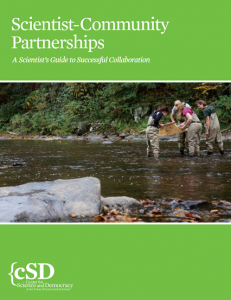 Scientist-Community Partnerships document cover